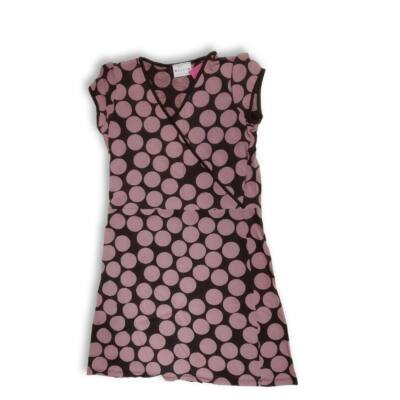 140-es barna-rózsaszín pöttyös ruha - Next