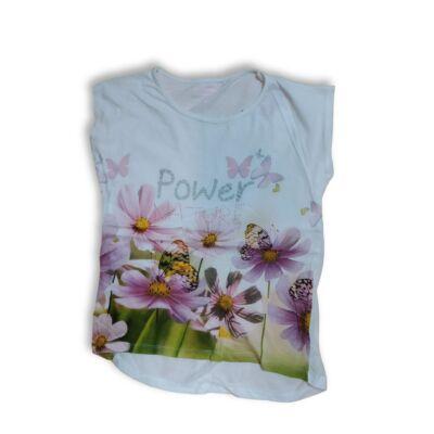 152-es fehér virágos póló - In Extenso