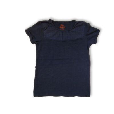 146-152-es kék madeirás póló - Pepperts