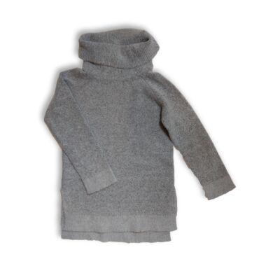 140-es szürke garbónyakú kötött lány pulóver - In Extenso
