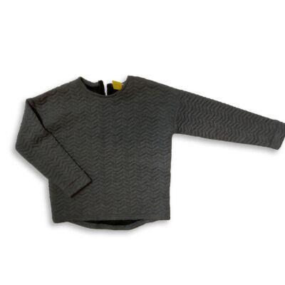 146-152-es szürke steppelt lány pulóver - Pepco