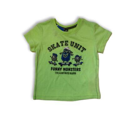 92-es zöld szörnyes póló - Kiki & Koko - ÚJ