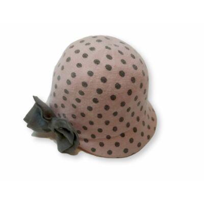 4-6 évesre rózsaszín-khaki pöttyös szövet kalap - H&M