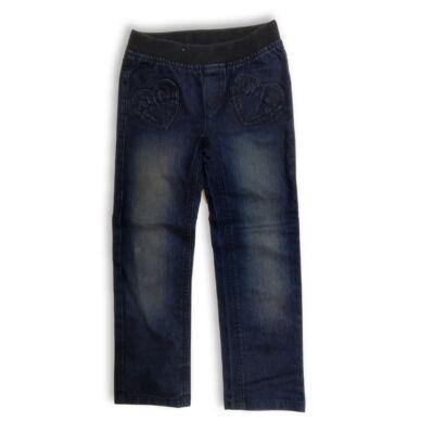 116-os kék szivecskés farmernadrág - C&A