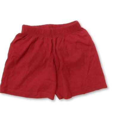 116-122-es piros pamut short
