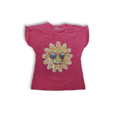 116-os rózsaszín átfordítható flitteres póló