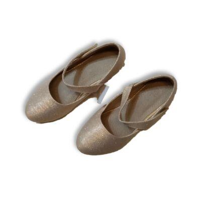 31-es aranyszínű csillogó alkalmi cipő - ÚJ