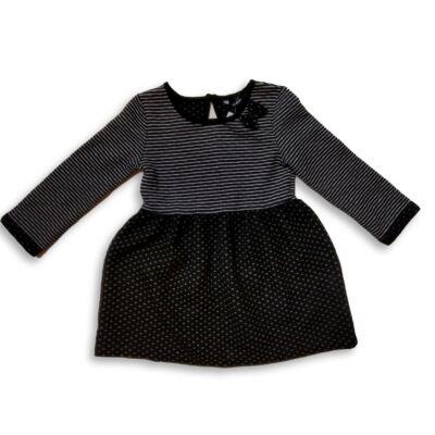 92-98-as fekete-fehér vastagabb ruha - George