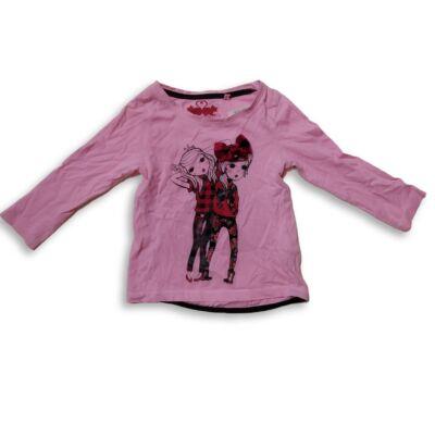 92-es rózsaszín kislányos pamutfelső - C&A