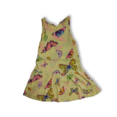 110-116-os sárga lepkés ujjatlan ruha - H&M