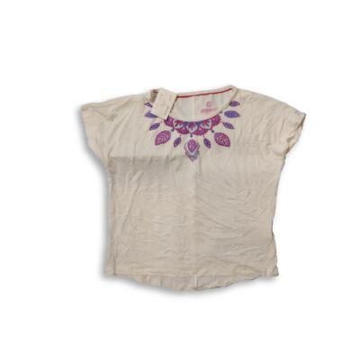 122-128-as mandalamintás fehér póló - Pepperts