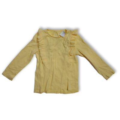 122-es sárga fodros pamutfelső - F&F