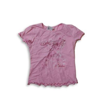 128-as rózsaszín csillogó feliratos póló - Mikita
