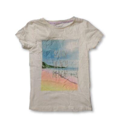 128-as fehér tengerpartos lány póló - F&F