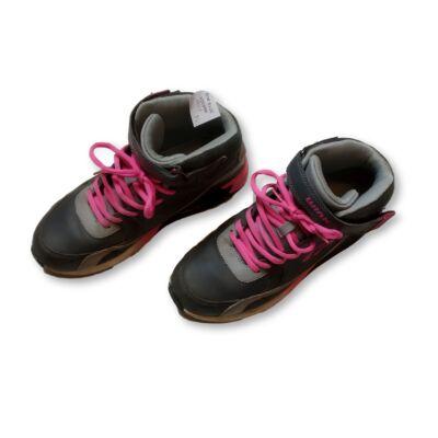 38-as szürke-pink magasszárú cipő, bakancs - Wink