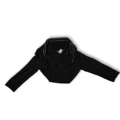 134-140-es fekete strasszos boleró