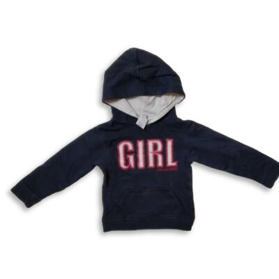 116-os sötétkék kapucnis lány pulóver - Topolino
