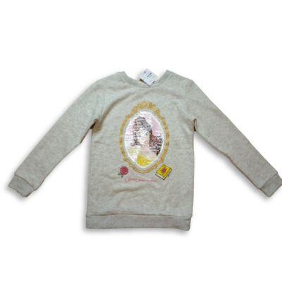 134-140-es átfordítható flitteres szürke pulóver - Szépség és a szörny - Disney- H&M