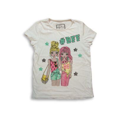 128-134-es fehér lányos póló - Pepco