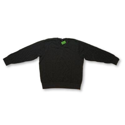 Férfi L-es szürke csíkos kötött pulóver - Bogie