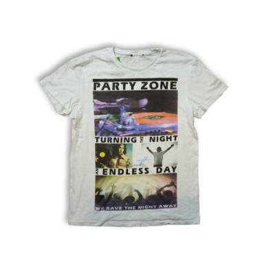 Férfi M-es halványzöld Party Zone póló