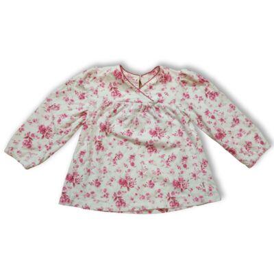 92-es fehér-rózsaszín birágos tunika jellegű pamutfelső - Phoebe & Floyd