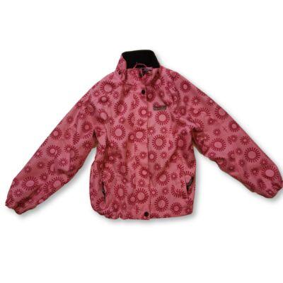 128-as rózsaszín virágos átmeneti kabát