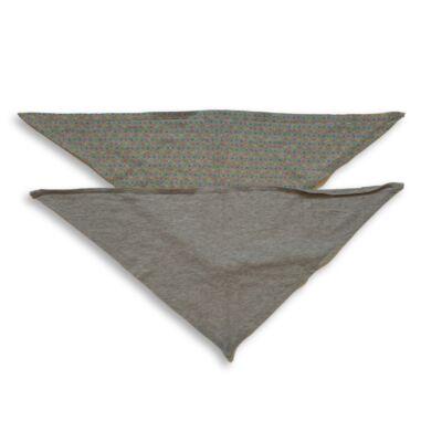 Szürke nyálkendők, nyaksálak, 2 db egyben - TCM