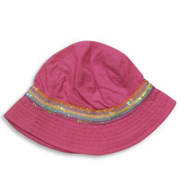 50 cm-es fejre rózsaszín flitteres nyári kalap - C&A