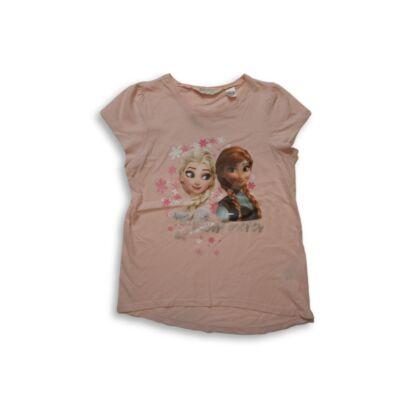 134-140-es barackszínű póló - H&M - Frozen, Jégvarázs