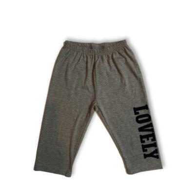 146-os szürke feliratos térdig érő leggings