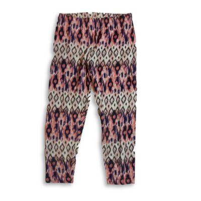 128-as rózsaszín-kék mintás leggings - F&F