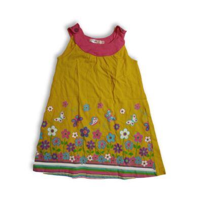 116-os sárga virágos pamutruha - Bonprix