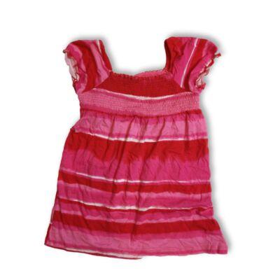 140-146-os pink-piros csíkos póló