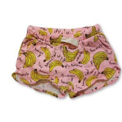 116-os rózsaszín banános pamutshort - Zara