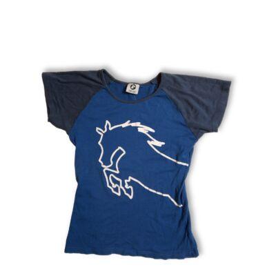 158-164-es kék lovas póló