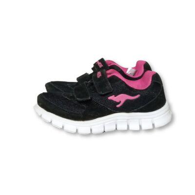 29-es fekete-pink tépőzáras cipő - Kangaroos