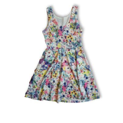 146-152-es virágos ujjatlan ruha - H&M