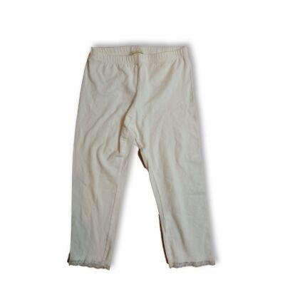 146-os fehér csipkés aljú térdig érő leggings - H&M