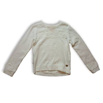 134-140-es fehér virágos pulóver - H&M