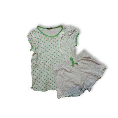 122-es szürke-zöld pöttyös nyári pizsama - Tezenis