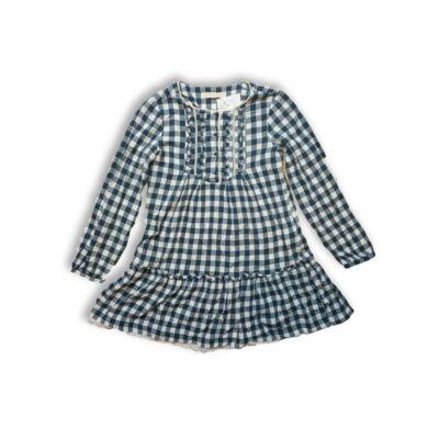 140-es kék kockás hosszúujjú ruha - Zara