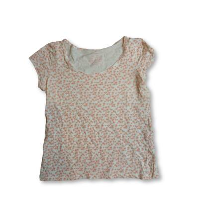 Női L-es fehér-barackszínű mintás póló - Orsay