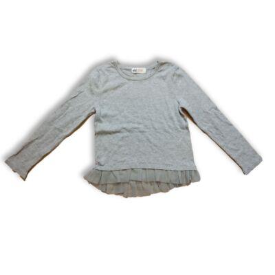 110-116-os szürke vékony kötött lány pulóver - H&M