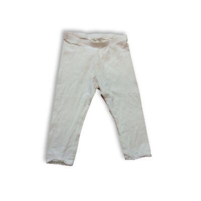 116-os fehér csipkés aljú leggings - H&M