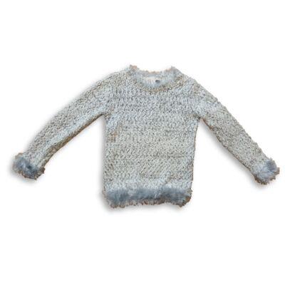 116-os szürke-fehér szőrmés pulóver - In Extenso