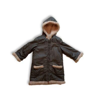 116-os szürke szőrmével bélelt lány kabát - Calvin Klein