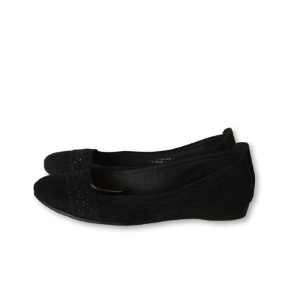 38-as fekete básony alkalmi balerinacipő - Graceland