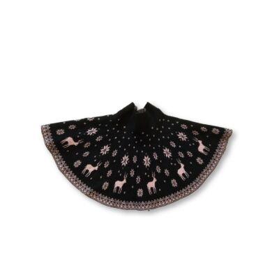 110-116-os fekete kötött ruha