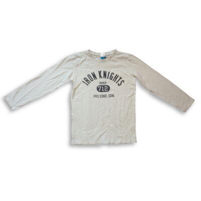 158-164-es fehér feliratos fiú pamutfelső - Dognose
